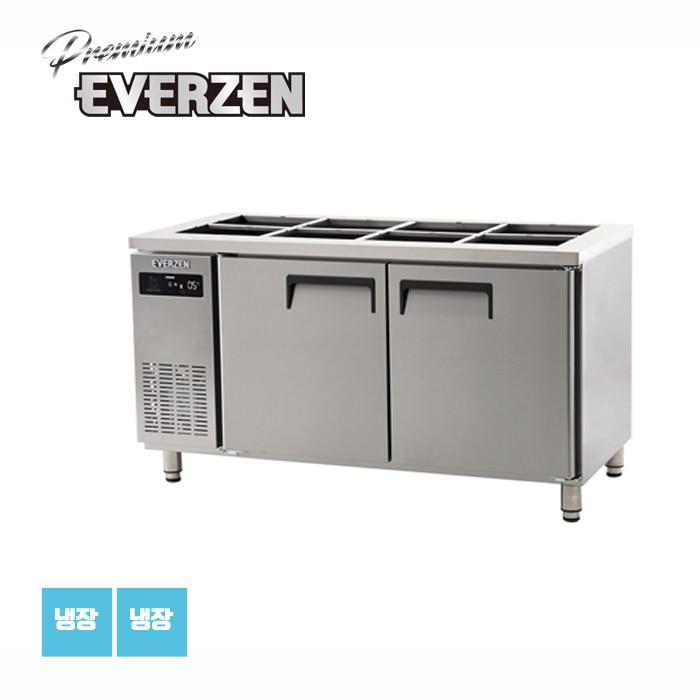 에버젠 간접냉각방식 받드테이블 반찬냉장고 1500 UDS-15BIE